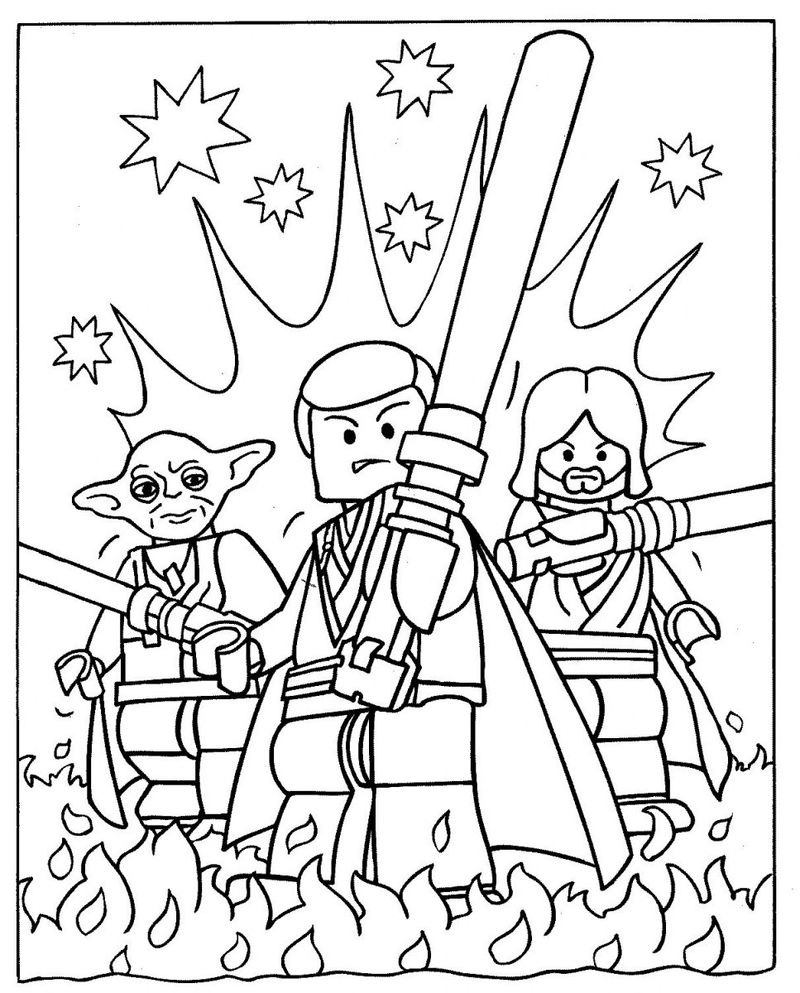 Free Lego Star Wars Coloring Pages 001
