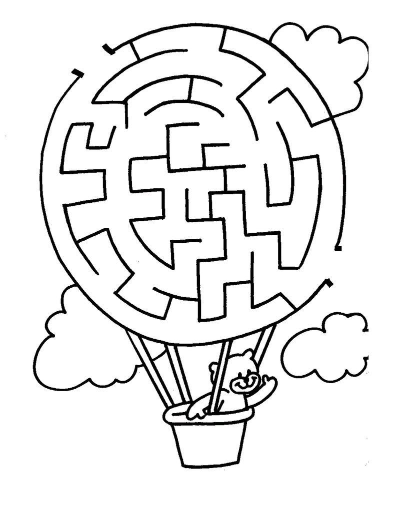 Free Maze Worksheets For Kids