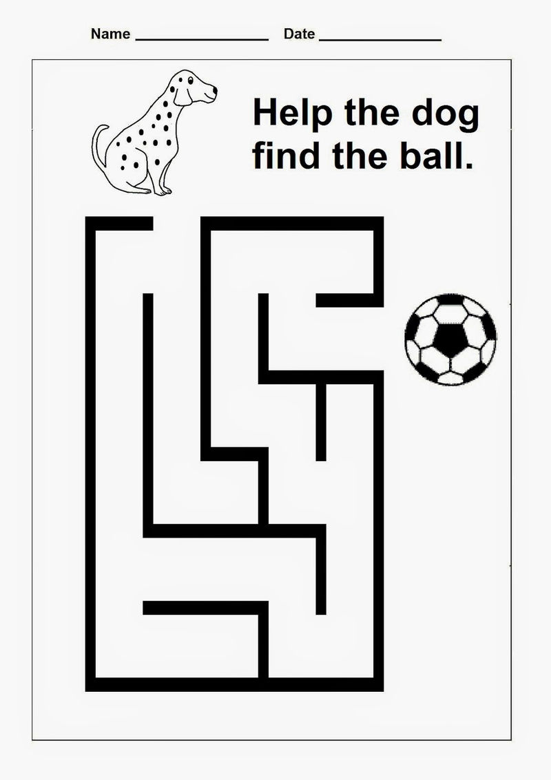 Free Maze Worksheets Game