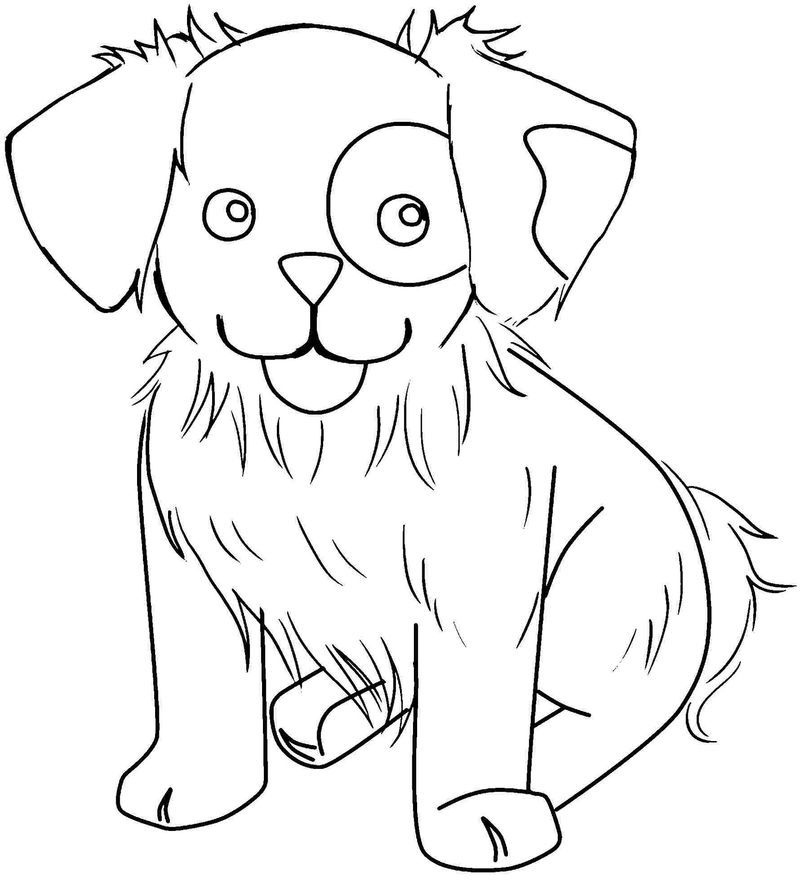 Free Online Printable Coloring Pages Dog