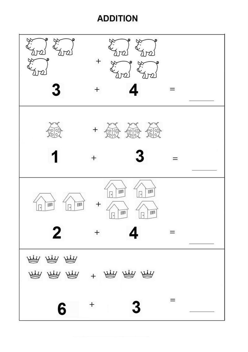 Free Printable Basic Math Worksheets For Kids