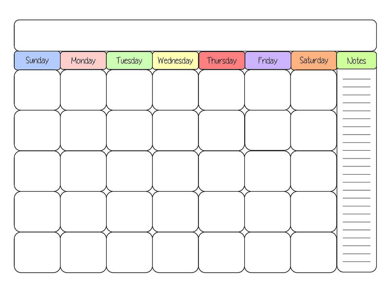 Free Printable Calendar Templates Interesting