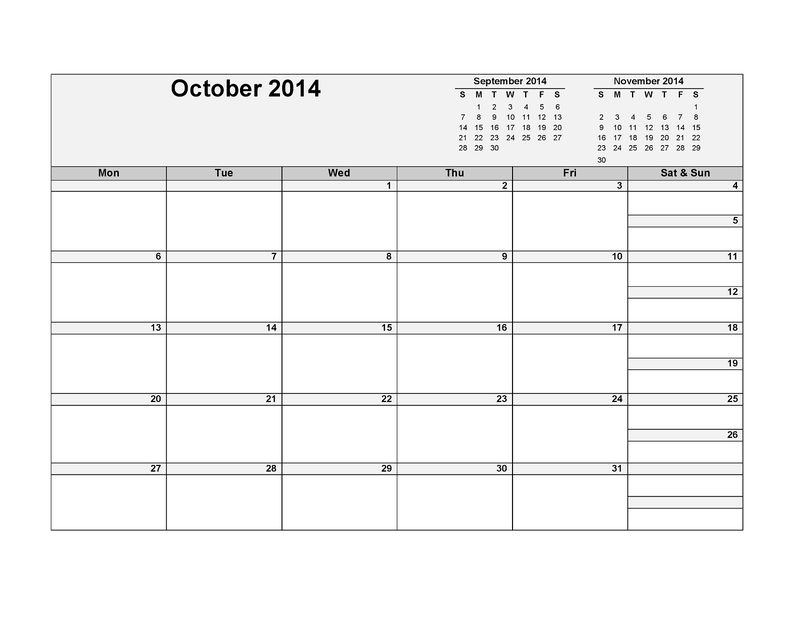 picture relating to Www.printablecalendars.com � Www.freeprintable.net named No cost Printable Calendars Oct 2014 Cost-free COLORING Internet pages