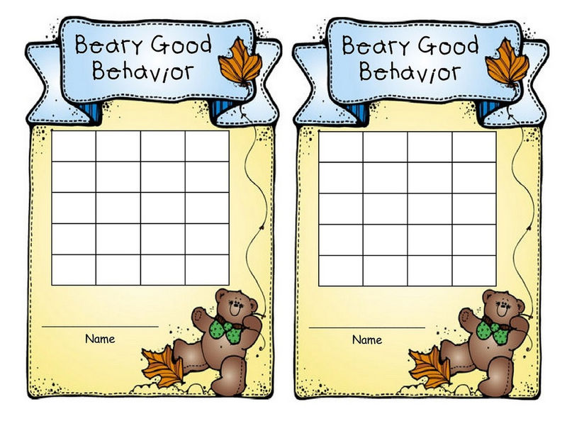 Free Printable Childrens Behaviour Chart Design