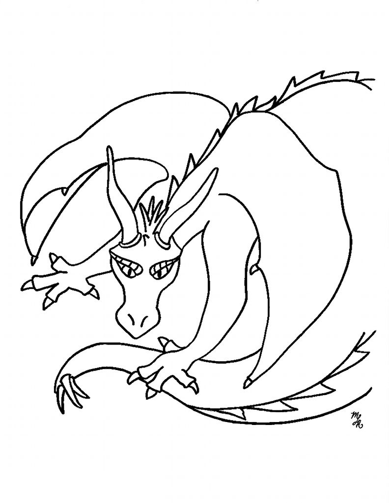 Free Printable Dragon Coloring Pages 001