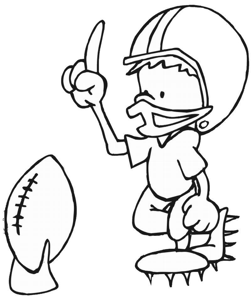 Free Printable Football Coloring Page 001