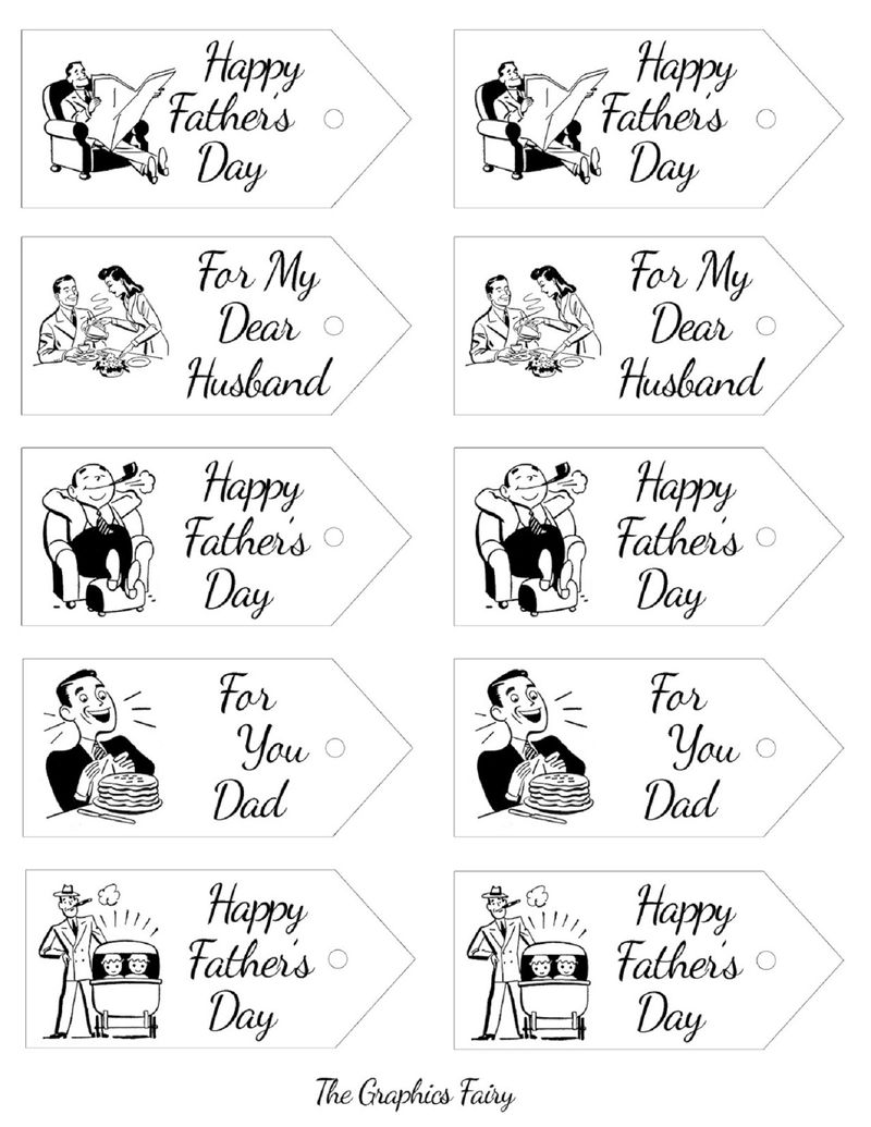 Free Printable Gift Tags Fathers Day