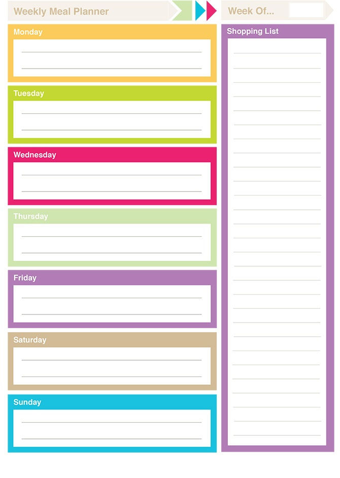 Free Printable Planner Pages Color 001