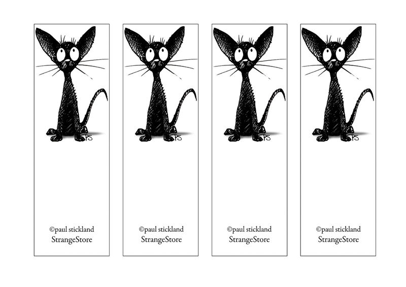 Free Printable Reading Bookmarks Black And White Cute