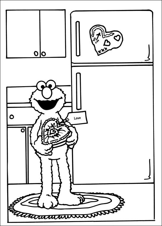 Free Printable Sesame Street Coloring Pages 001