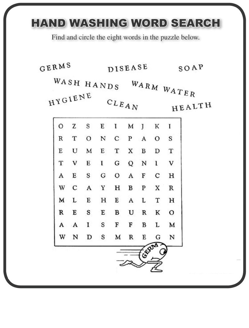 Free Printable Wordsearch For Elementary Students Page