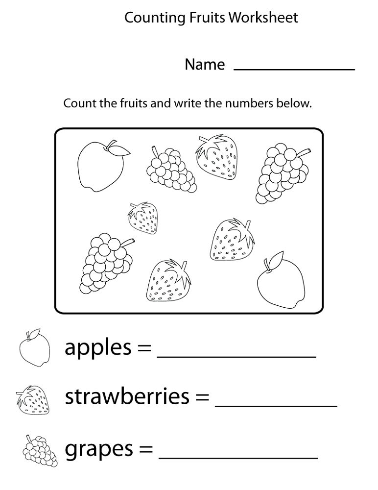 Free Printable Workbooks Counting