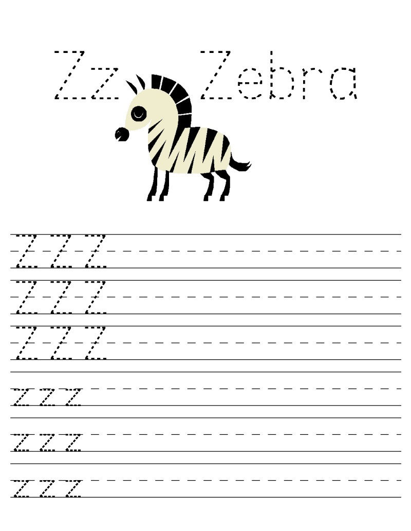 Free Printable Worksheets For Preschoolers For The Letter Z Page