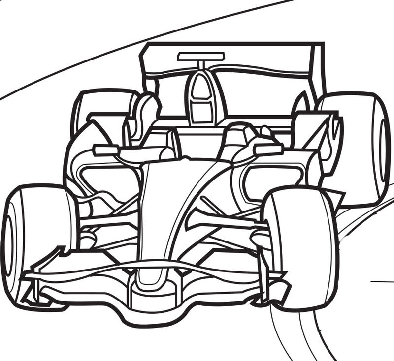 Free Race Car Coloring Page