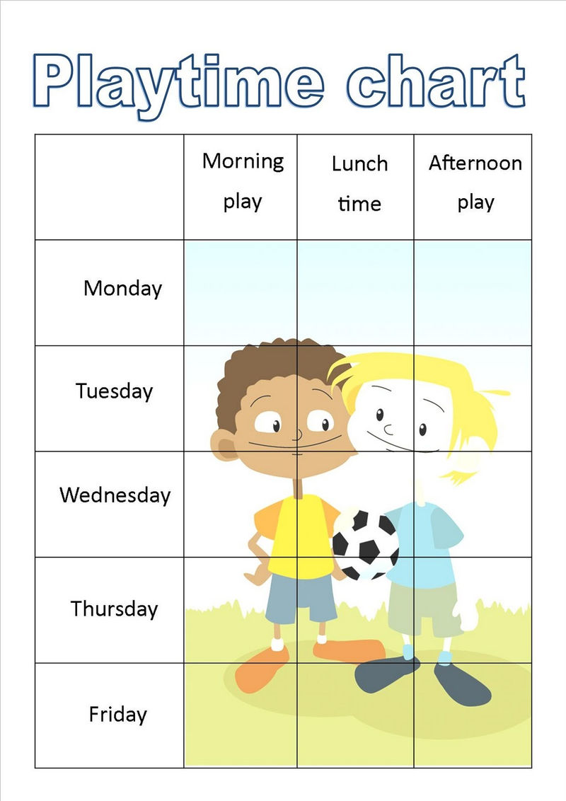 Free Reward Charts For Kids Play Time 001