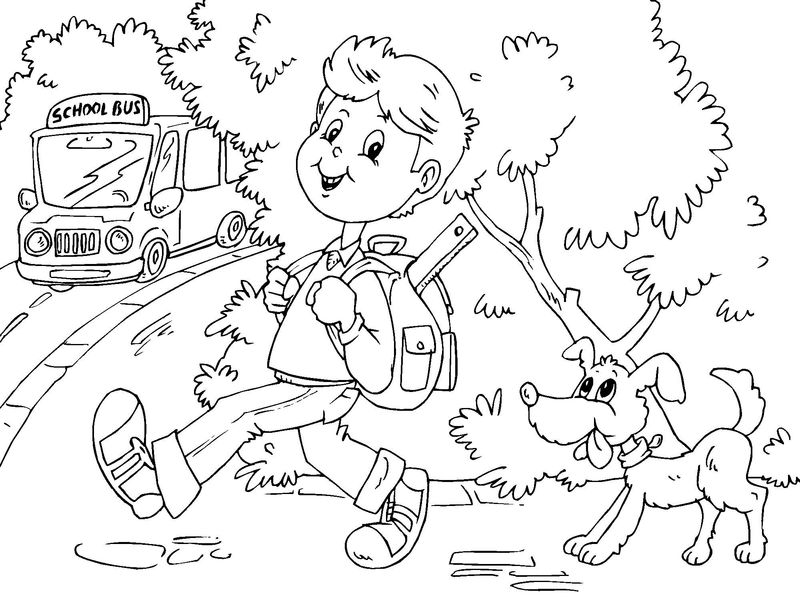 Free School Bus Coloring Pages 001