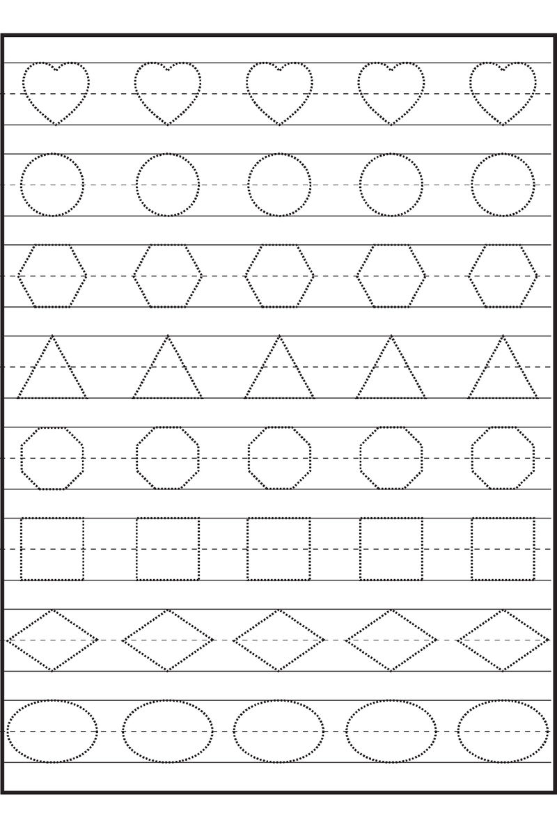 Free Shapes Worksheets For Practice