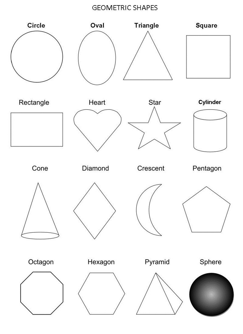 Free Shapes Worksheets Geometry