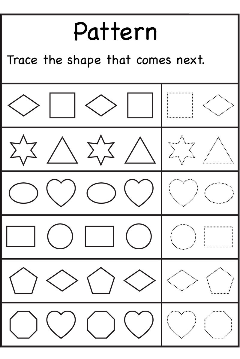 Free Shapes Worksheets Patterns