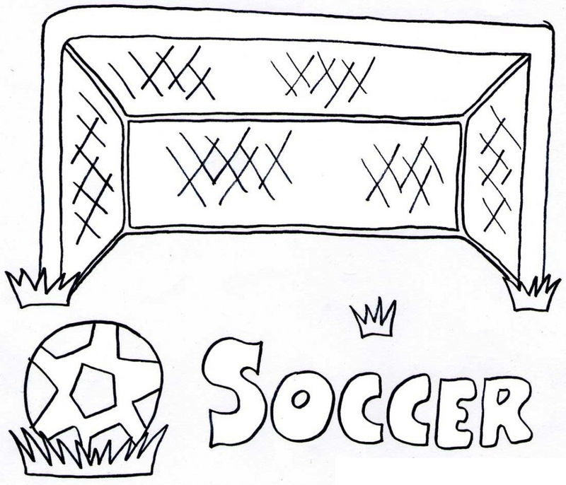 Free Soccer Coloring Pages 001