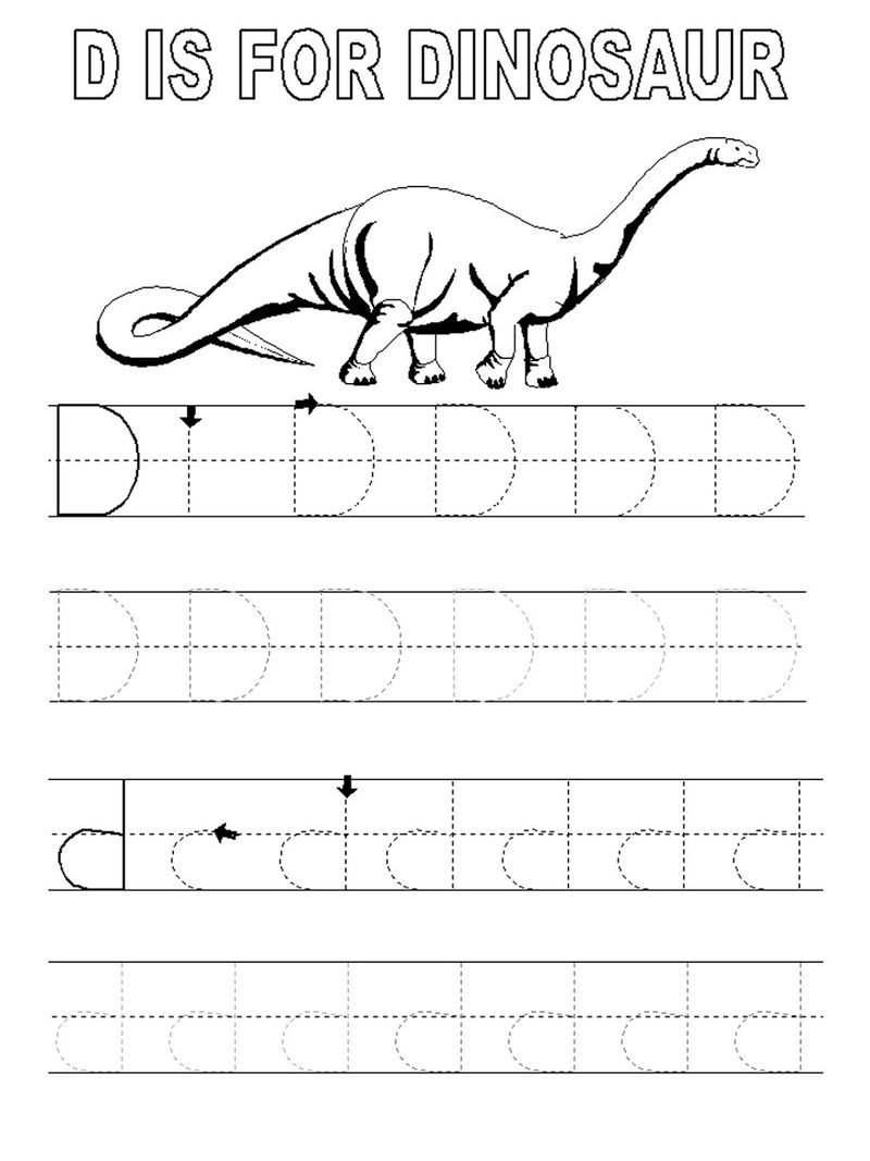Free Traceable Letters Dinosaur
