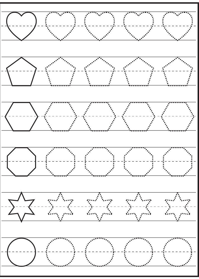 Free Traceable Worksheets Shapes 1 001