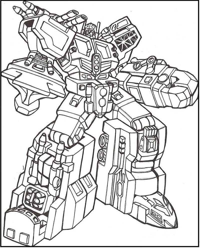 Free Transformers Coloring Page
