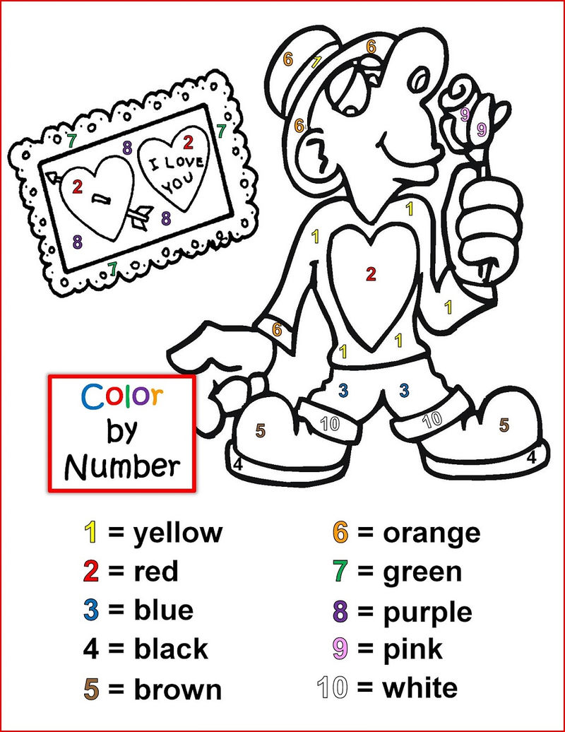 Free Valentines Day Color By Number
