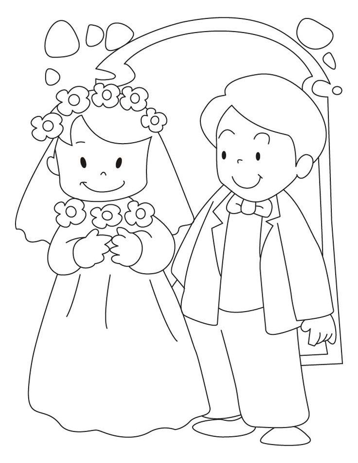 Free Wedding Coloring Pages 001