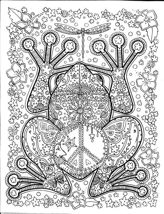 Frog coloring pages for teens
