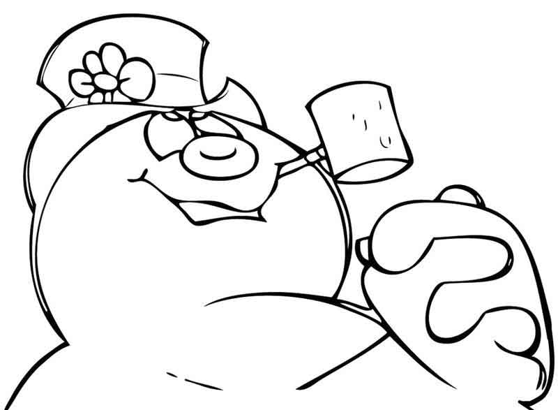 Frosty The Snowman Coloring Pages Image
