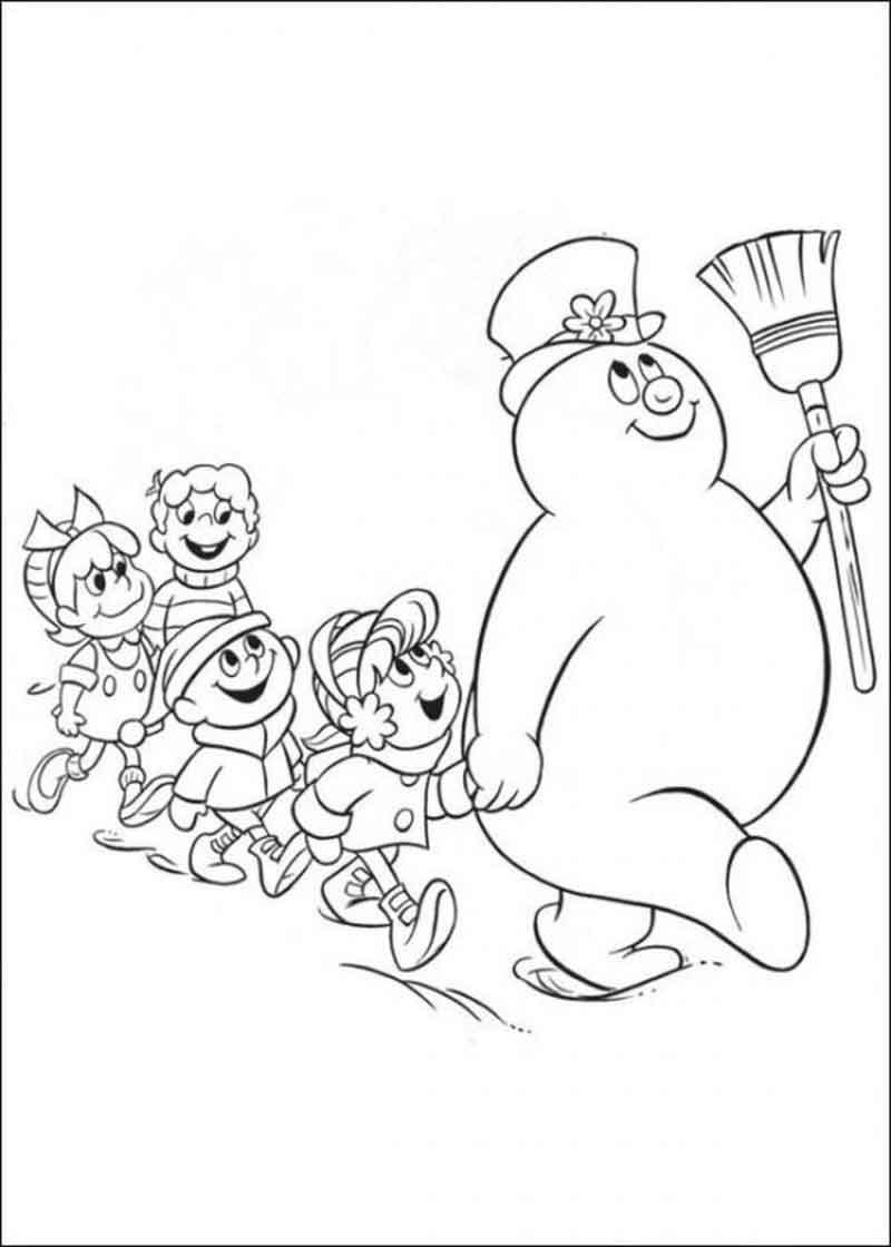 Frosty The Snowman Coloring Pages Parade