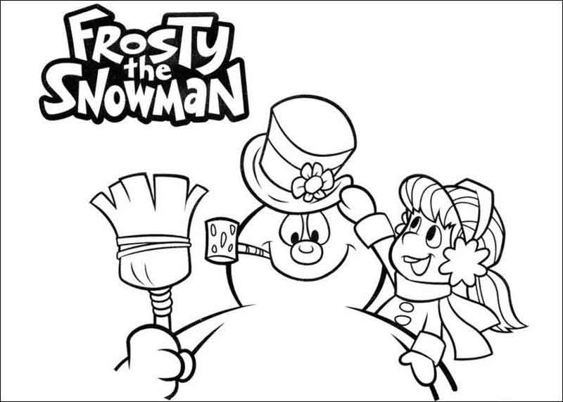 Frosty The Snowman Coloring Sheet