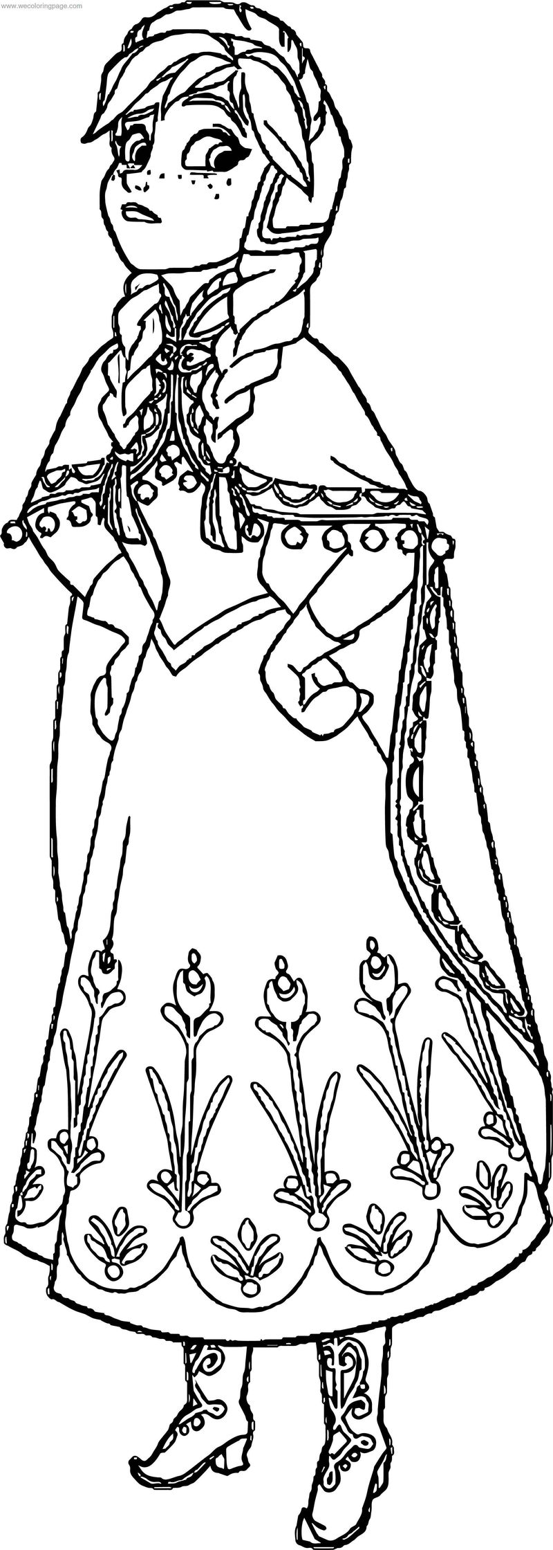 Frozen Anna Coloring Page