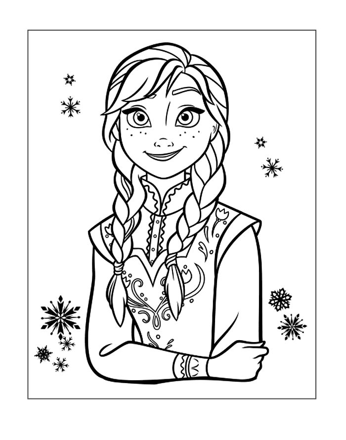Frozen Coloring Image Anna
