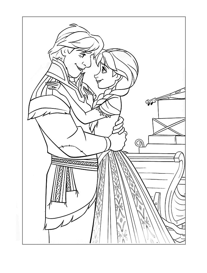Frozen Coloring Page Figuring It Out