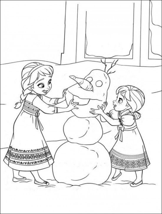 Frozen Coloring Pages For Print