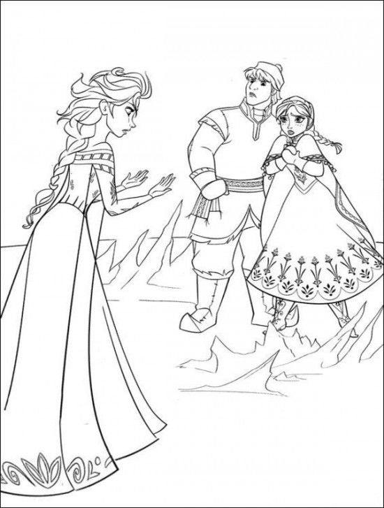Frozen Coloring Pages Free