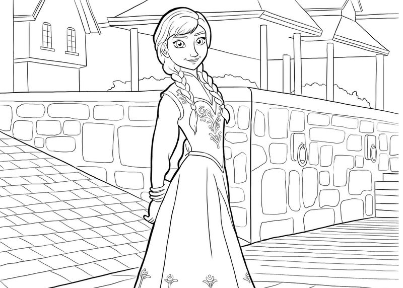 Frozen Coloring Pages Pictures