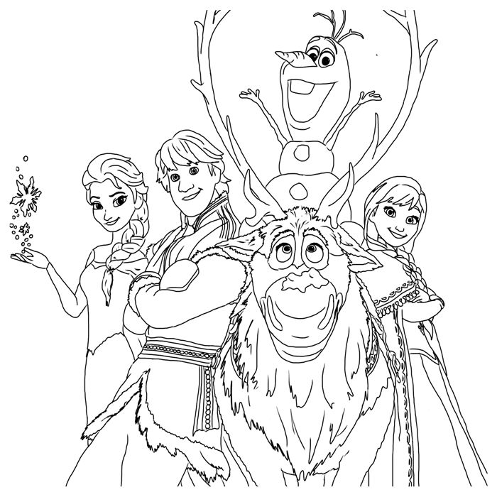 Frozen Coloring Pages The Gang