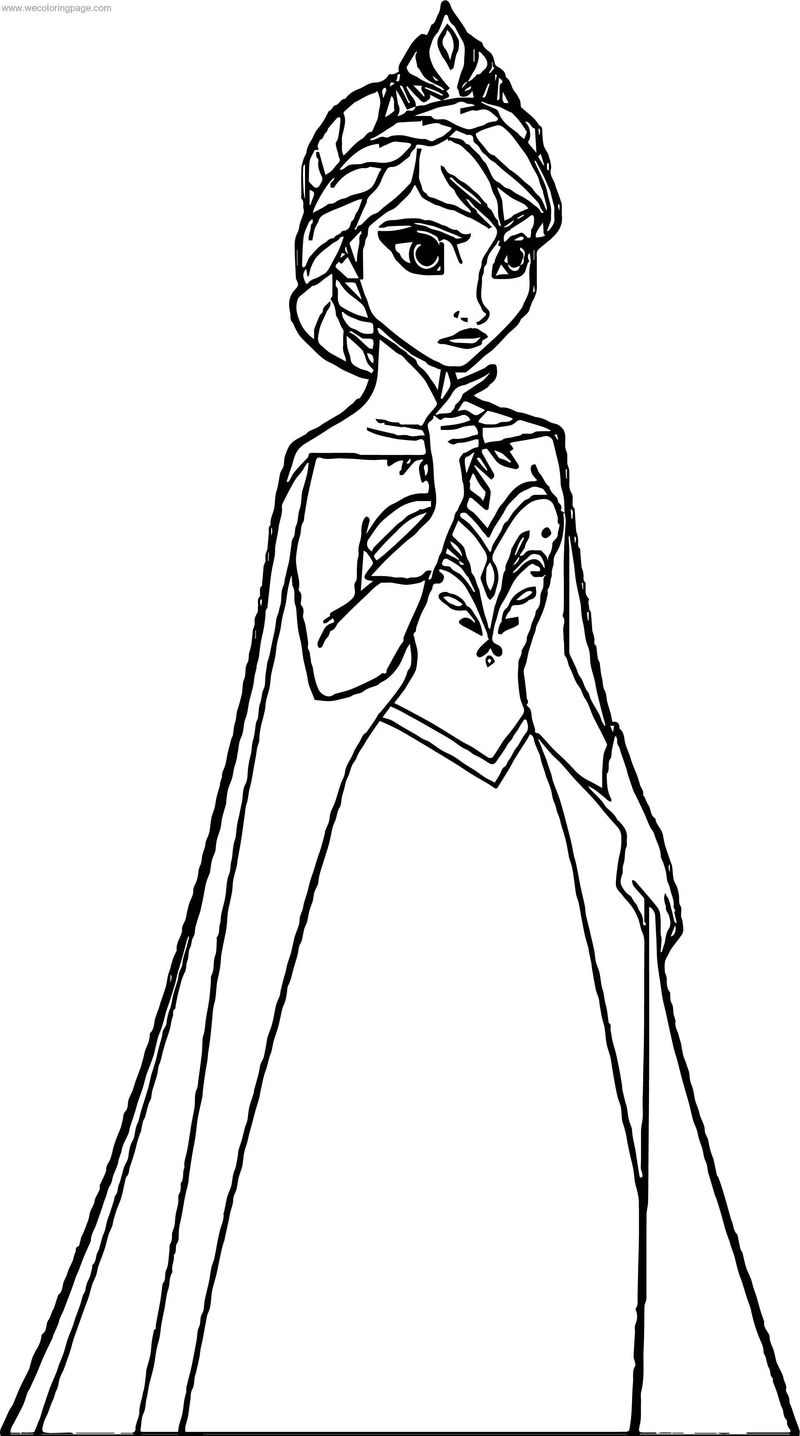 Frozen Elsa Angry Coloring Page
