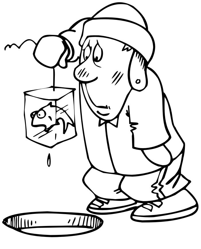 Frozen Ice Fishing Coloring Pages 001