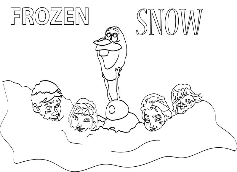 Frozen In Snow Coloring Page