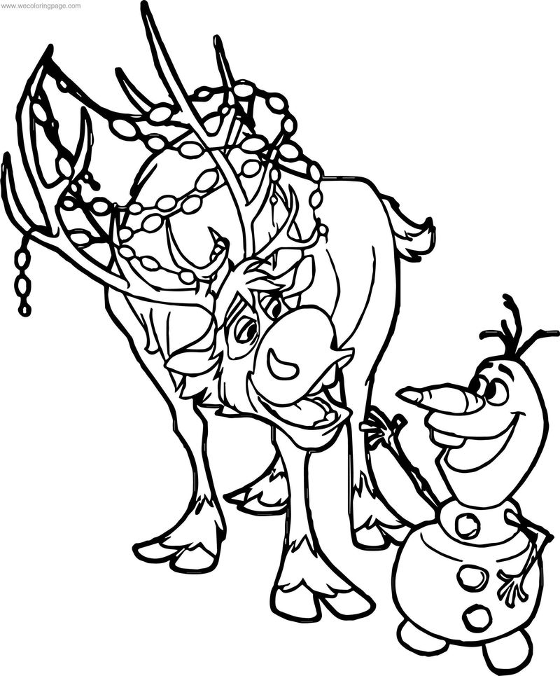 Frozen Sven Olaf Coloring Page