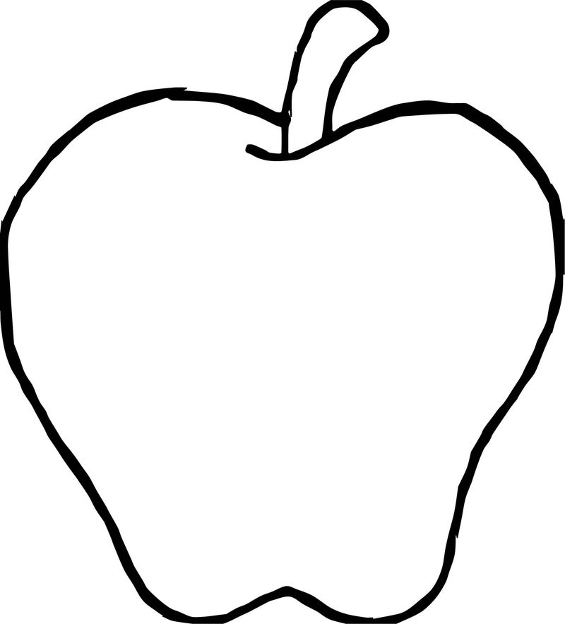 Fruit Apple Coloring Page