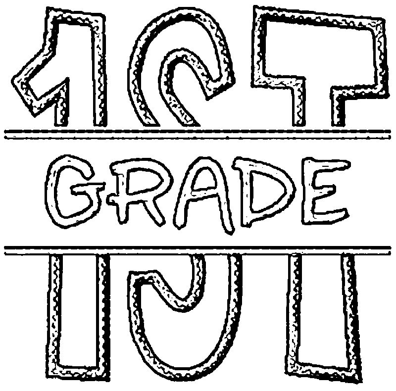 Fsf Split 1st Grade Coloring Page