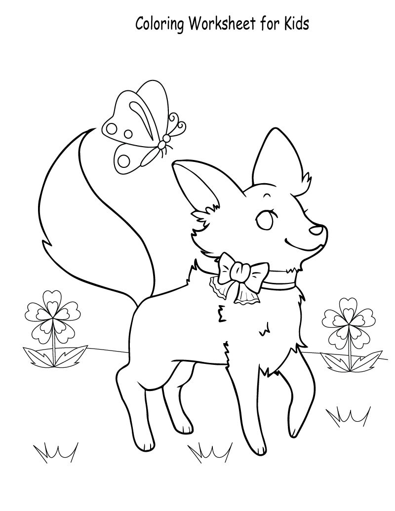 Fun Worksheets For Kids Coloring