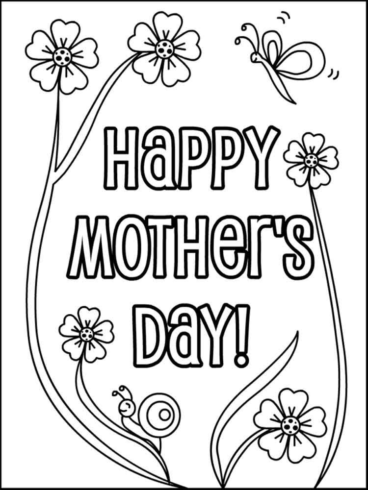 Gappy Mothers Day Coloring Page Flowers