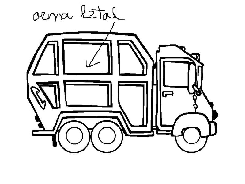 Garbage Truck Coloring Pages