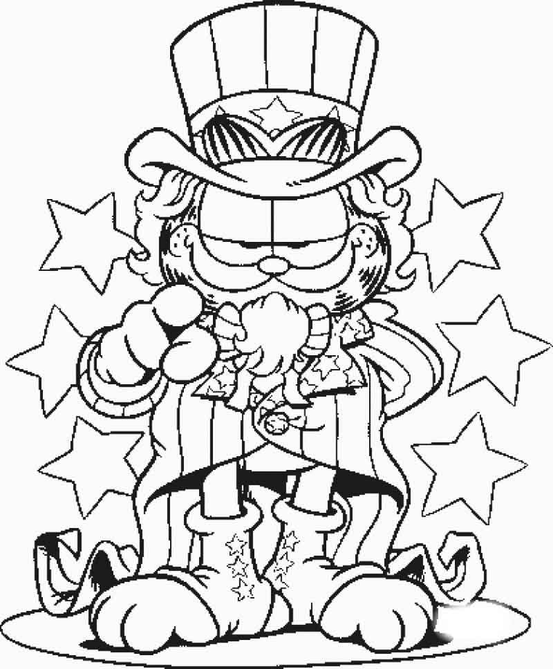 Garfield Coloring Pages Online